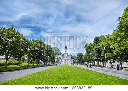 The Sanctuary Of Our Lady Of Lourdes Or The Domain. Basilique De Notre-dame De L'immaculée-conceptio