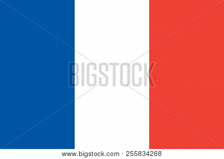 France. French Flag. Official Colors. Vector Illustration