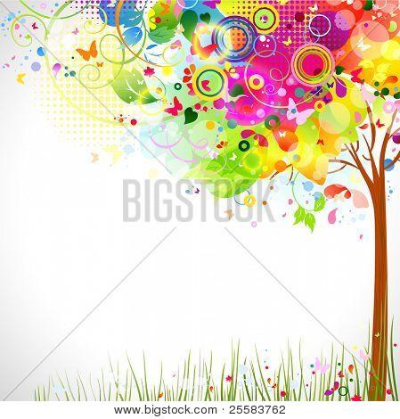 zomer samenstelling met multicolor boom