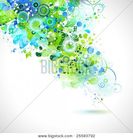 abstract composition with place for text poster