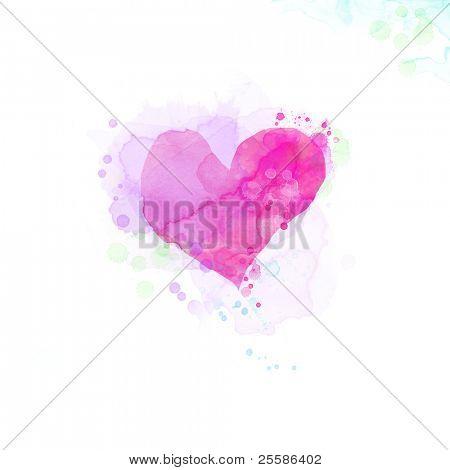 Wasserfarbe gemalten Herzen