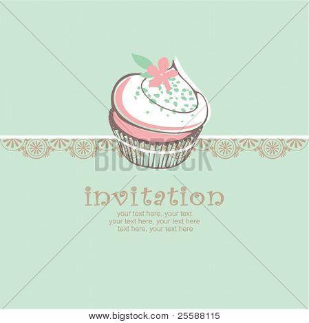 card with cupcake