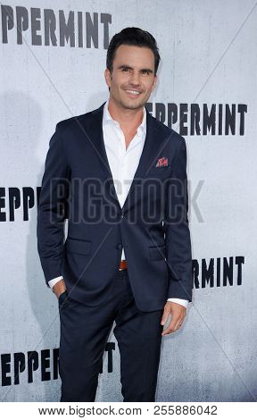 Juan Pablo Raba at the Los Angeles premiere of 'Peppermint' held at the Regal Cinemas L.A. LIVE in Los Angeles, USA on August 28, 2018.