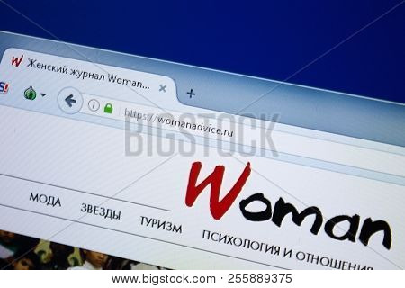 Ryazan, Russia - August 26, 2018: Homepage Of Woman Advice Website On The Display Of Pc, Url - Woman