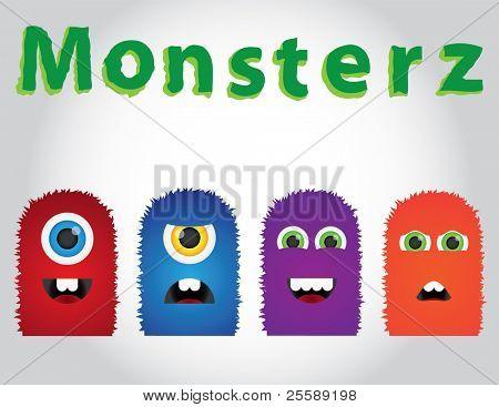 Cute vector Monsters