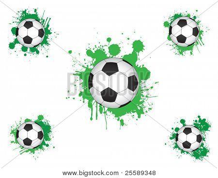 Raster Football with splash