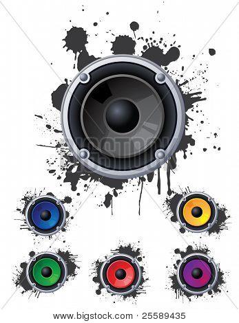 Set of urban speakers