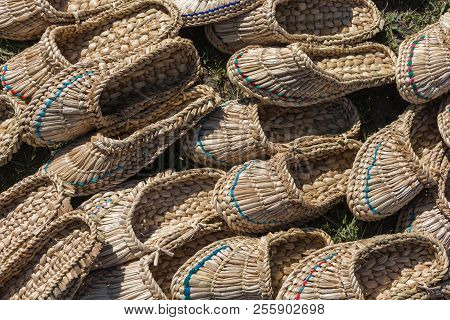 Wicker Slippers From Cattail.