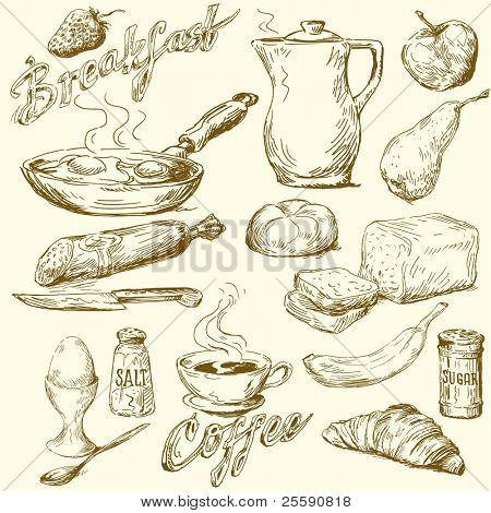 breakfast doodles poster