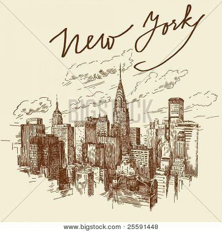 hand drawn new york