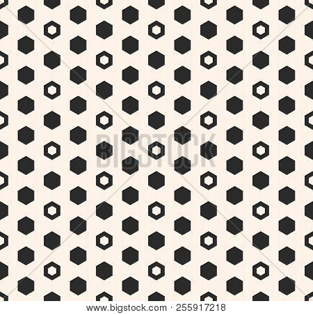 Hexagon Vector Pattern. Abstract Geometric Seamless Texture With Hexagonal Shapes, Honeycombs. Simpl