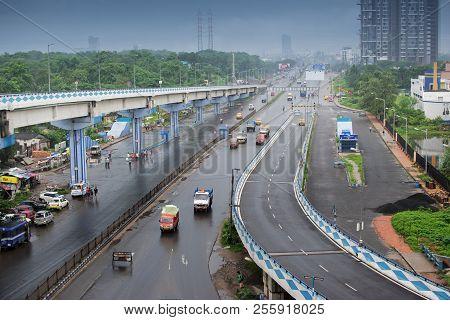 Kolkata, West Bengal , India - September 24th 2016 : Parama Island Flyover, Popularly Known As Ma Or