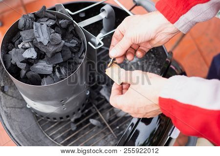 Special Charbon Or Coal For Barbecue Cooking. Get Ready For Making Fire