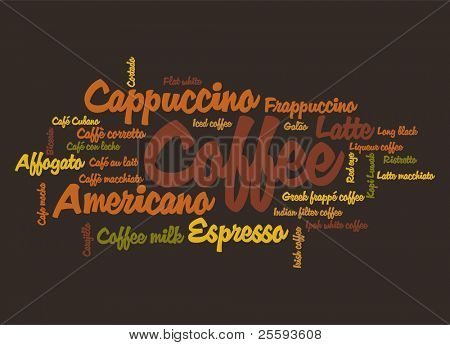 Vector poster for decorate cafe or coffee shop