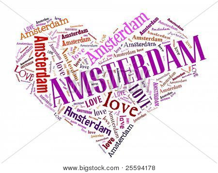 Love heart of  Amsterdam