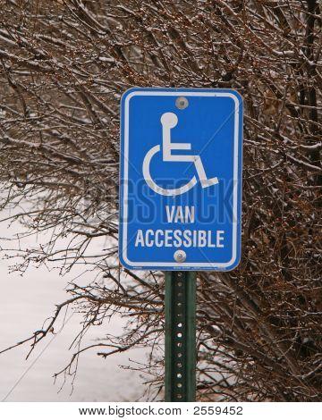 Street Signs Blue Handicapped Van Access
