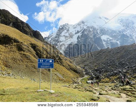 The Rocky, Remote  And Majestic Terrain Of The Salkantay Trek, High In The Andes Mountains, On The W