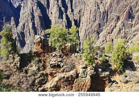 Black Canyon Of The Gunnison National Park And Recreation Area At Gunnison Point, Near Montrose, Col