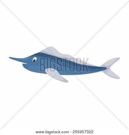 Tuna Fish Ocean Animal Sea Water Nature Food Vector Illustration. Seafood Marine Character.