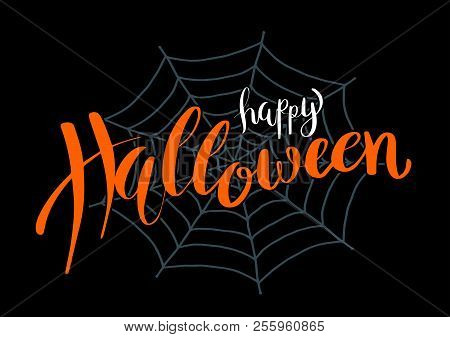 Happy Halloween Vector Lettering