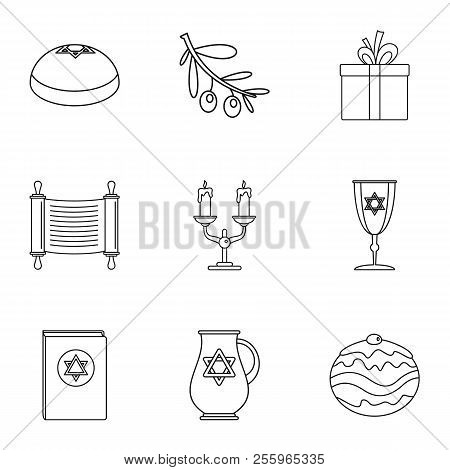 Religiosity Icons Set. Outline Set Of 9 Religiosity Icons For Web Isolated On White Background