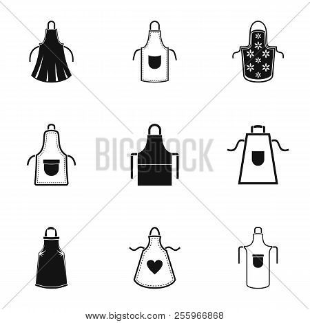 Pinafore Icons Set. Simple Set Of 9 Pinafore Icons For Web Isolated On White Background
