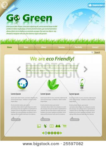 Green Eco Themed Website Template