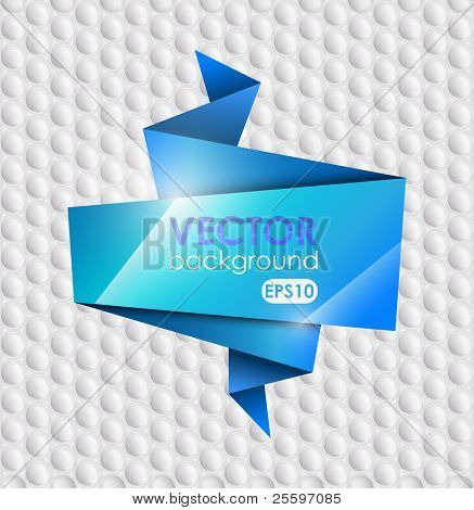 Abstract Origami Vector Background