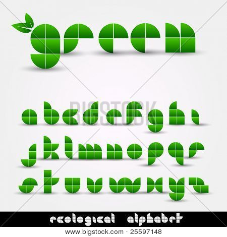Green Ecological Alphabet