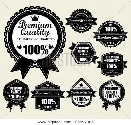Premium Quality Labels WIth Retro Vintage Design