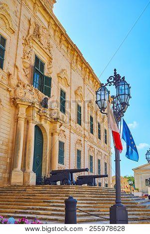 The Streetlights In Castille Place, Valletta, Malta