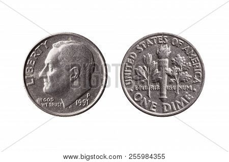 Usa Dime Nickel Coin (10 Cents) Obverse Franklin D Roosevelt Reverse Olive Branch Torch Oak Branch C