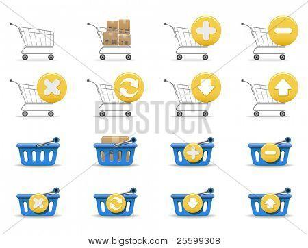 Shopping carts and baskets