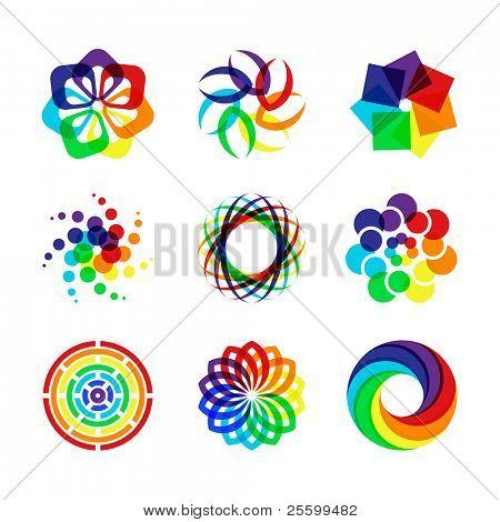 Rainbow symbols