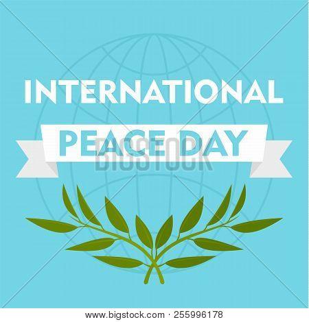 International Peace Day Blue Background. Flat Illustration Of International Peace Day Blue Backgroun