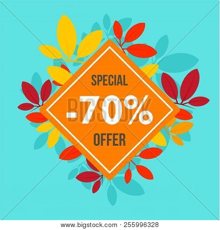 Final Autumn Offer Sale Background. Flat Illustration Of Final Autumn Offer Sale Background For Web