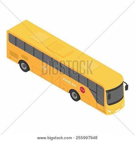 Europe School Bus Icon. Isometric Of Europe School Bus Icon For Web Design Isolated On White Backgro
