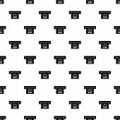 Atm machine receipt pattern. Simple illustration of atm machine receipt pattern for web poster