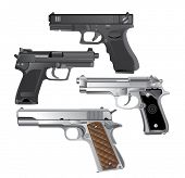 handgun, Pistol vector poster