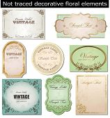 vector set: vintage labels poster