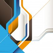 Modern designed conceptual graphic with abstraction. Vector illustration. poster