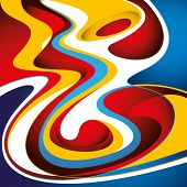 Colorful graphic with stylized abstract fluids. Vector illustration. poster