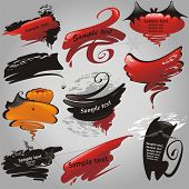 Halloween banners collection. (vector illustration) poster