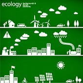 sustainable development concept - ecology backgrounds & elements // see also others from this series in my portfolio poster