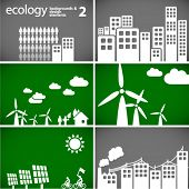 sustainable development concept - ecology backgrounds & elements 2 // see also others from this series in my portfolio poster