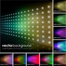 Colorful Lighting Effect Background Set
