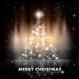 Abstract Shiny Christmas Stars