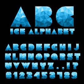 Ice Alphabet With Numbers