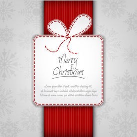 Elegant Christmas Background With Gift Box On White Background