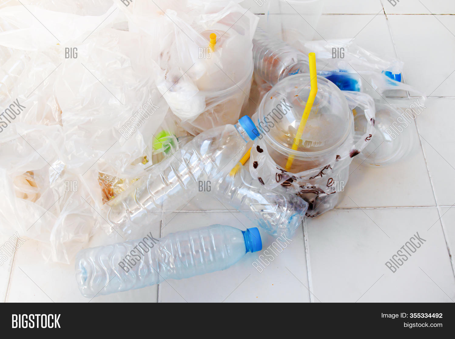 Pile Plastic Bottle Image Photo Free